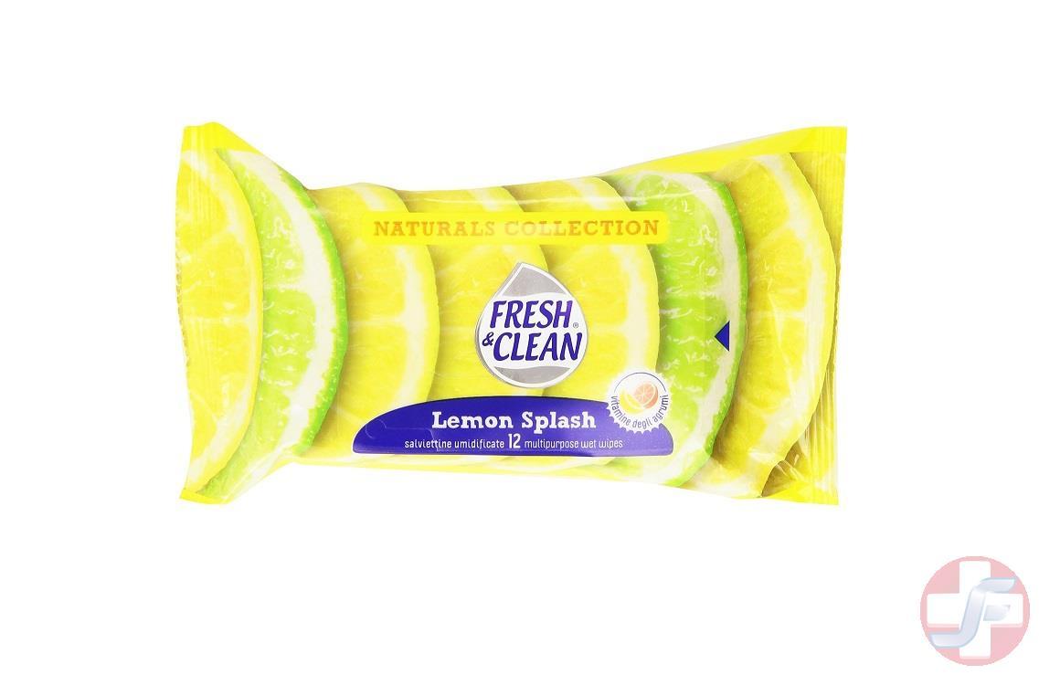 fresh and clean salviettine milleusi natural lemon splash. Black Bedroom Furniture Sets. Home Design Ideas