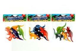ANIMALI DINOSAURI 4PZ 3ASS